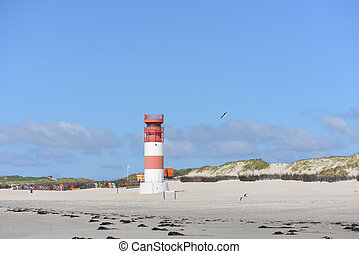 The lighthouse on the dune of Helgoland