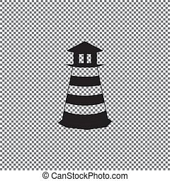 Lighthouse icon. Vector concept illustration for design.