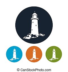 Lighthouse icon, vector illustration