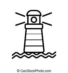 Lighthouse icon vector illustration photo