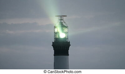 lighthouse illuminated - creac\'h powerful lighthouse in...