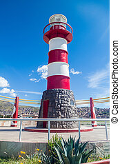 Lighthouse in a port of Puno