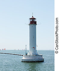 lighthouse in black sea