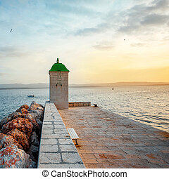 Lighthouse in Bol city, Croatia