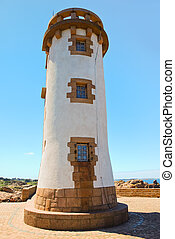 lighthouse in Brittany on Pink Granite Coast