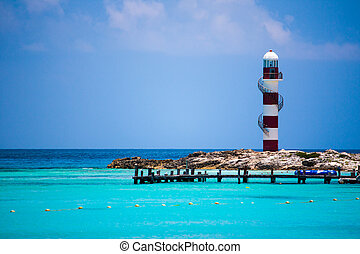 Lighthouse in Cancun Mexico