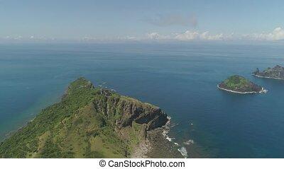 Lighthouse in cape engano . Philippines, Palau island. -...
