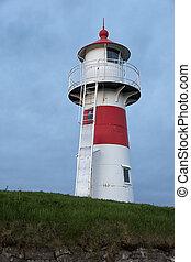 Lighthouse in Faroe islands.