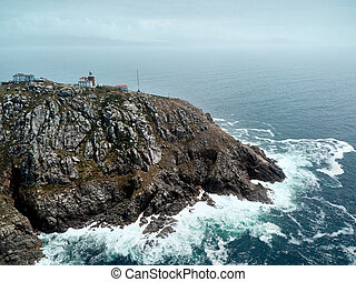 Lighthouse in Finisterre or Fisterra End Of The Old World
