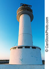 Lighthouse in Formentera at sunset
