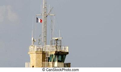 Lighthouse in France - Lighthouse near Benodet in Brittany,...