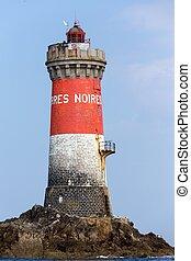 Lighthouse in full sea