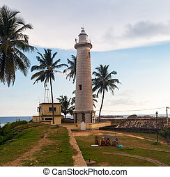 Lighthouse in Galle fort, Sri Lanka