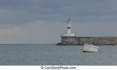 Lighthouse in Harbor