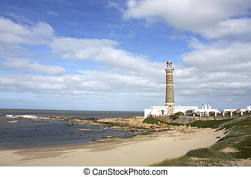 The famous lighthouse in Jose Ignacio, Uruguay, South america.