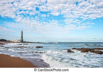 Lighthouse in Jose Ignacio, Uruguay