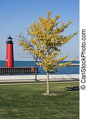 Lighthouse in Kenosha, Wisconsin