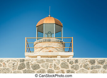Lighthouse in Monemvasia town - Laconia, Greece