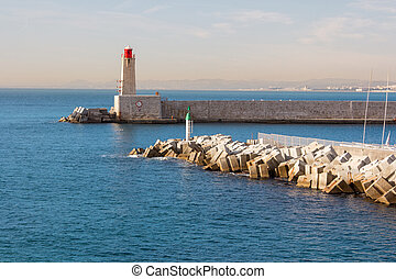 Lighthouse in Nice in south france
