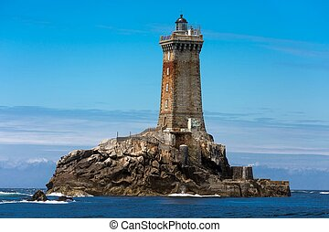 Lighthouse in open sea