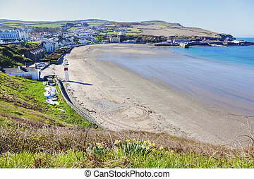 Lighthouse in Port Erin on the Isle of Man