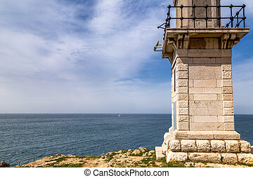 Lighthouse in Rovinj on Adriatic sea in Croatia, Europe.