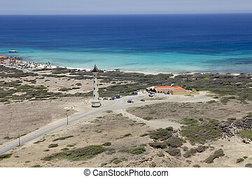 Lighthouse in the Caribbean - Lighthouse located on Aruba, ...