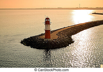 lighthouse in the morning sun