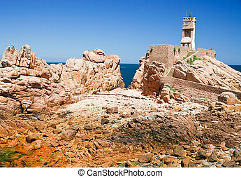 lighthouse in the rocks