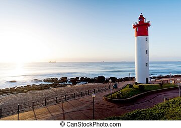 lighthouse in Umhlanga, South Africa - lighthouse in...