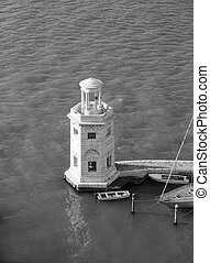 Lighthouse in Venice in black and white