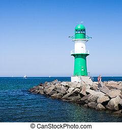 lighthouse in warnem?nde