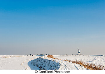 Lighthouse in winter