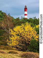 Lighthouse in Wittduen on the island Amrum, Germany