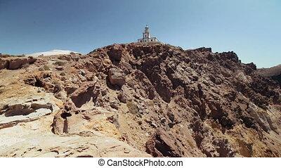lighthouse island of Santorini, Greece, Caldera