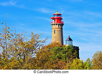 lighthouse Kap Arkona, Ruegen Island in Germany
