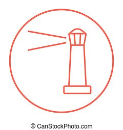 Lighthouse line icon.