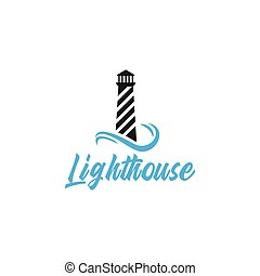 Lighthouse logo design template vector isolated illustration