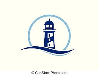 Lighthouse logo design template vector,