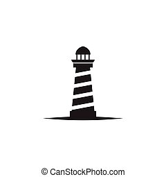 Lighthouse logo design vector template