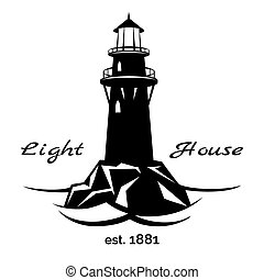 Lighthouse logo for for maritime companies, corporations and businesses on maritime transport