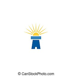 lighthouse logo vector icon sign element