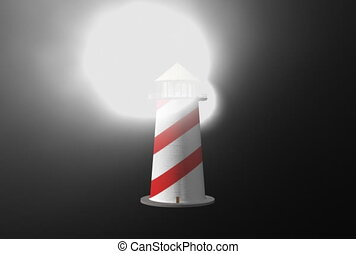 Lighthouse. Loop. CG. ntsc
