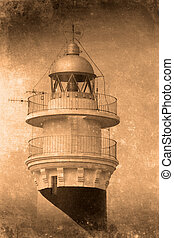 Lighthouse Menorca - Retro look of light house menorca spain