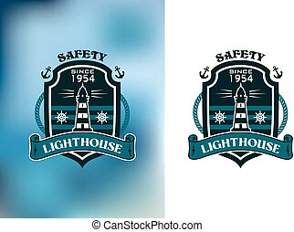 Lighthouse nautical banner