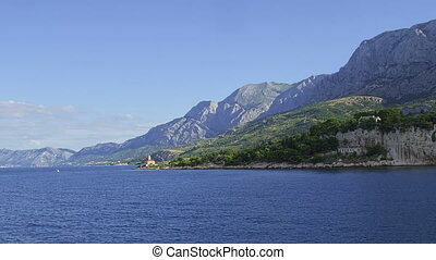 Lighthouse near Makarska - The lighthouse near Makarska city...