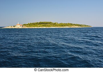 Lighthouse near Sucuraj in Croatia