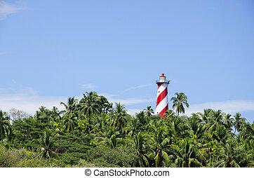 Lighthouse, North Bay Island, Andaman and Nicobar Island, ...