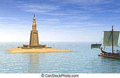 Lighthouse of Alexandria - computer graphics