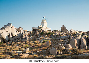 Lighthouse of Capo Testa. Santa Teresa di Gallura, Sardinia ...